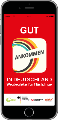 "Download Flyer zur App ""Ankommen"""