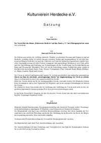 Download Satzung Kulturverein